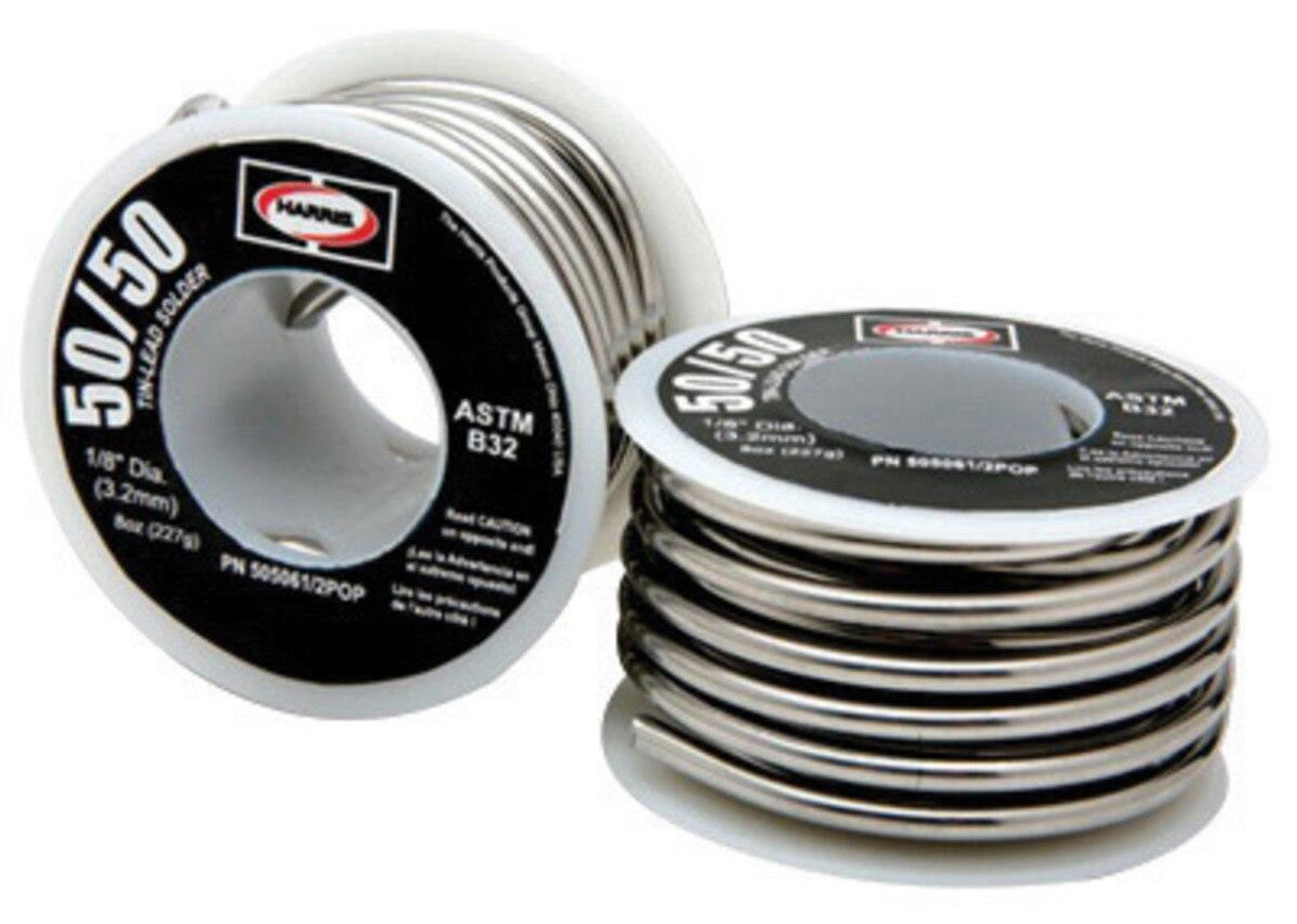 Harris 50/50 1/8 8 oz Common Lead-bearing Solder 505061/2POP