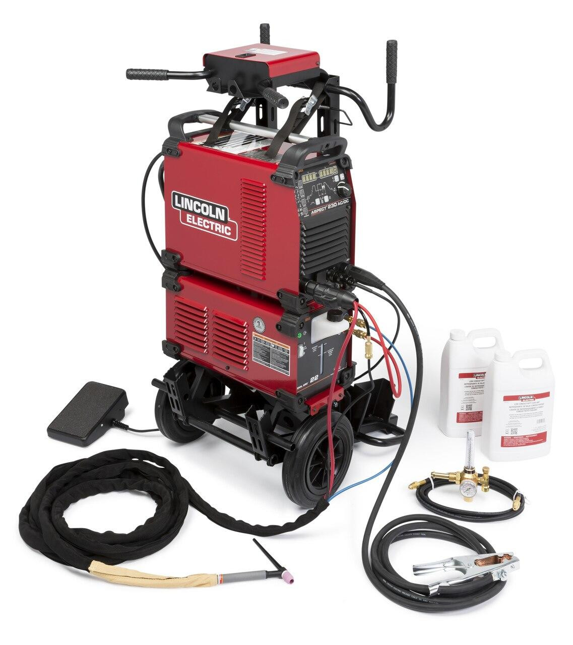 Lincoln Aspect 230 AC/DC TIG Welder Water Cooled One Pak K4342-1
