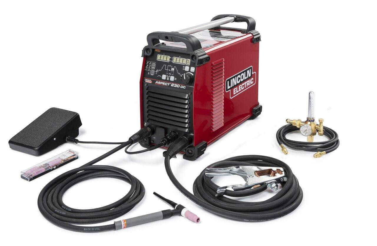 Lincoln Aspect 230 DC TIG Welder Air Cooled One Pak K4347-1