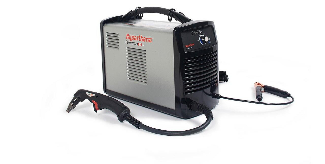 Hypertherm Powermax 30 Air Plasma Cutter 088096 w/ Built-In Air Compressor w/ Kit and Cover