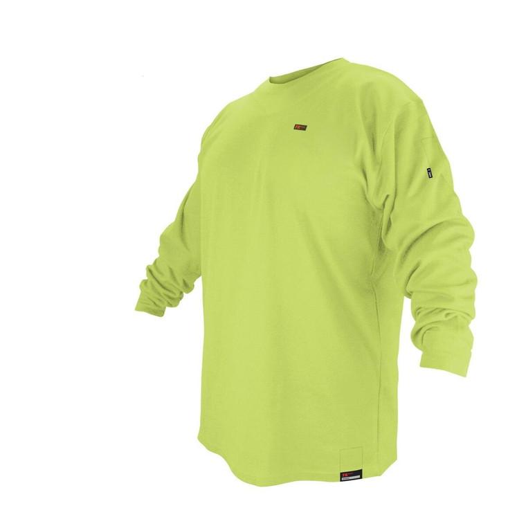 Revco Black Stallion FR Flame Resistant Cotton Long Sleeve T-shirt - Lime - 3X
