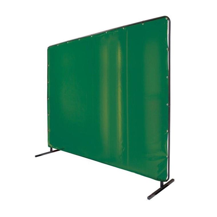 Revco Black Stallion Saf-Vu 14 mil Translucent Vinyl Green 6 x 6 Welding Screen and Frame