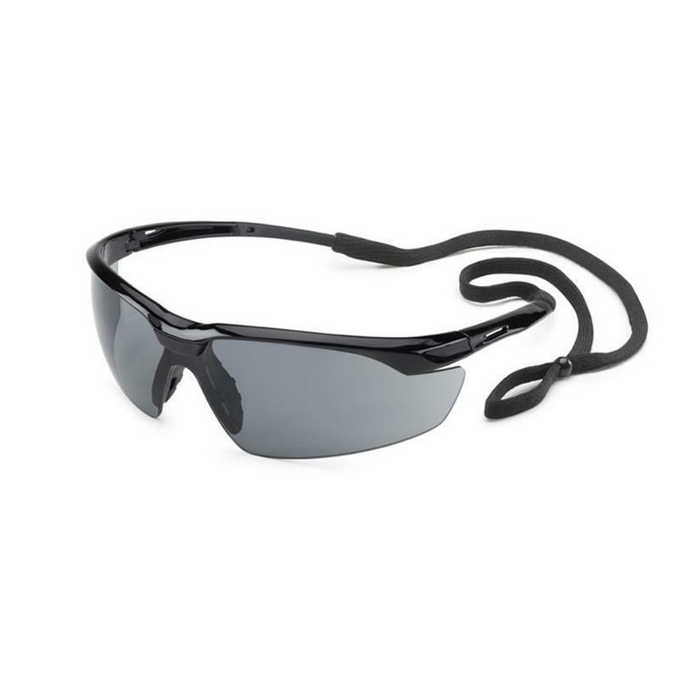 Gateway Conqueror Safety Glasses Black Frame with Gray Lens 28GB83