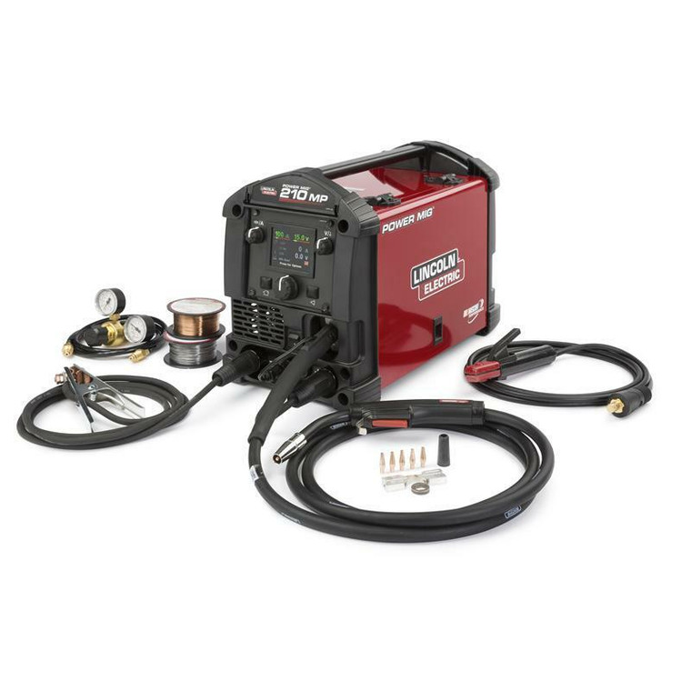 Lincoln Power MIG 210 MP Multi-Process Welder MIG and Stick K3963-1
