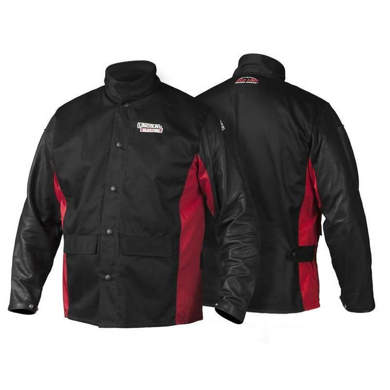 Lincoln Shadow Grain Leather Sleeved Welding Jacket K2987