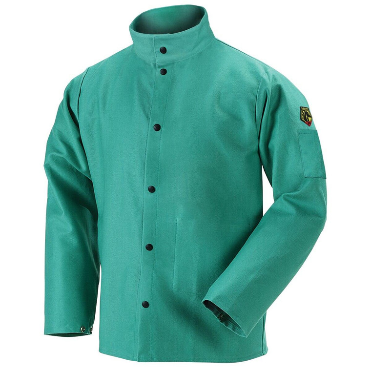 Revco Black Stallion TruGuard 200 FR Cotton Welding Jacket, Green