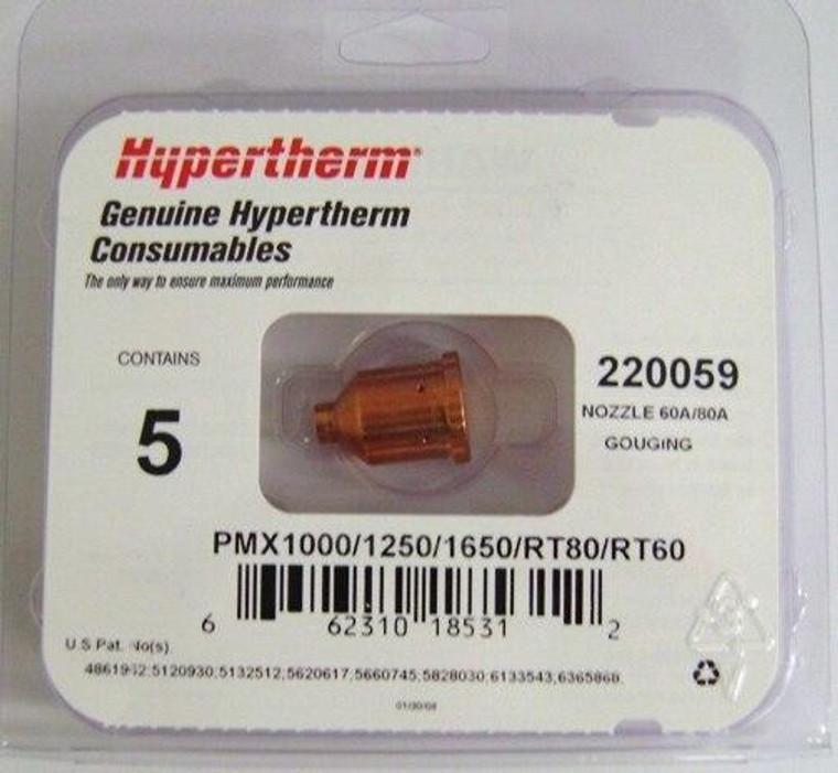 Hypertherm 220059 Powermax 1000 Gouging Nozzles - 5 Pack