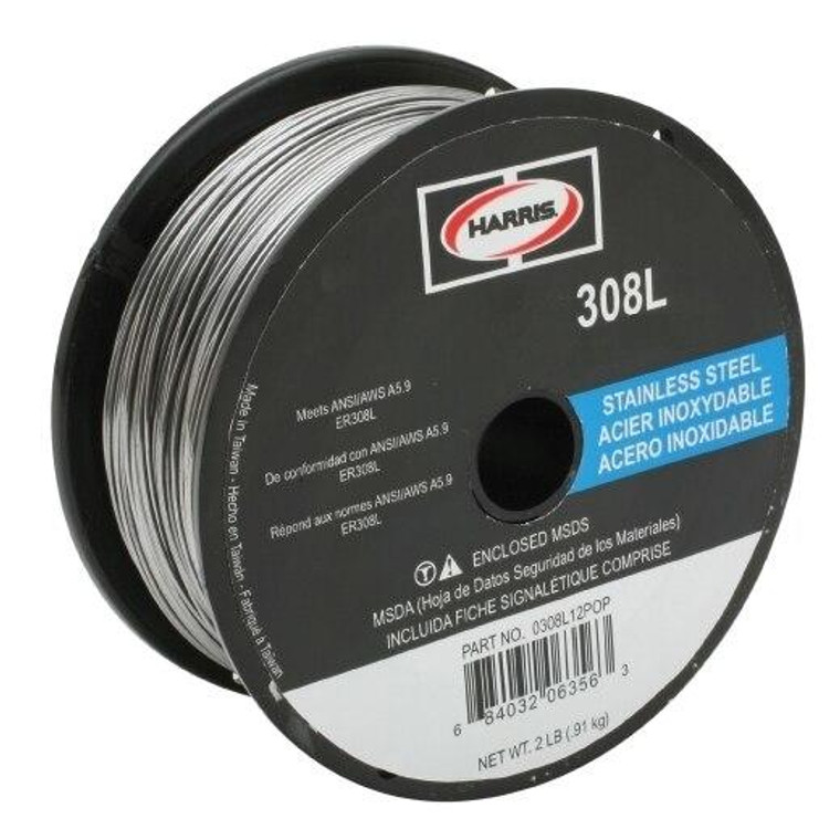 Harris 308L Stainless Steel Solid MIG Welding Wire .035 - 2 lbs