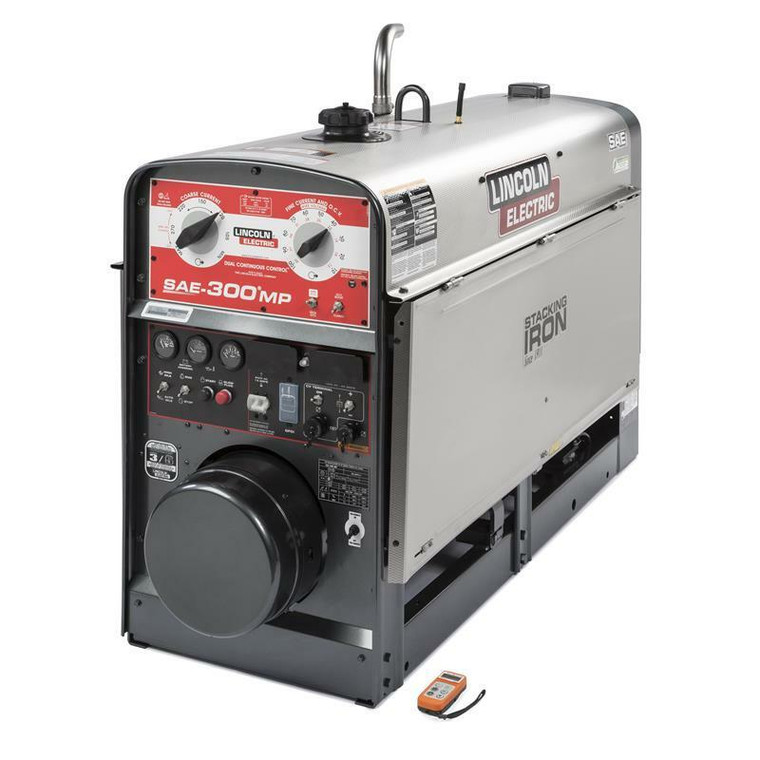 Lincoln SAE-300 MP EPA Tier 4 Final Engine Driven Welder Perkins Stainless Steel with Wireless Remote K4089-2