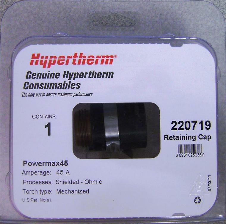 Hypertherm 220719 Powermax 45 Ohmic Retaining Cap