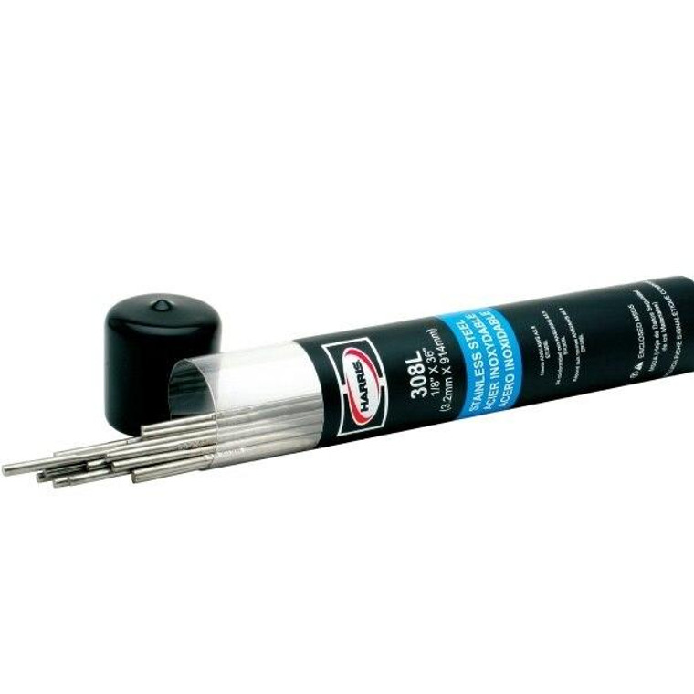Harris 308L Stainless Steel TIG Welding Rod 3/32 x 36 - 10 lbs
