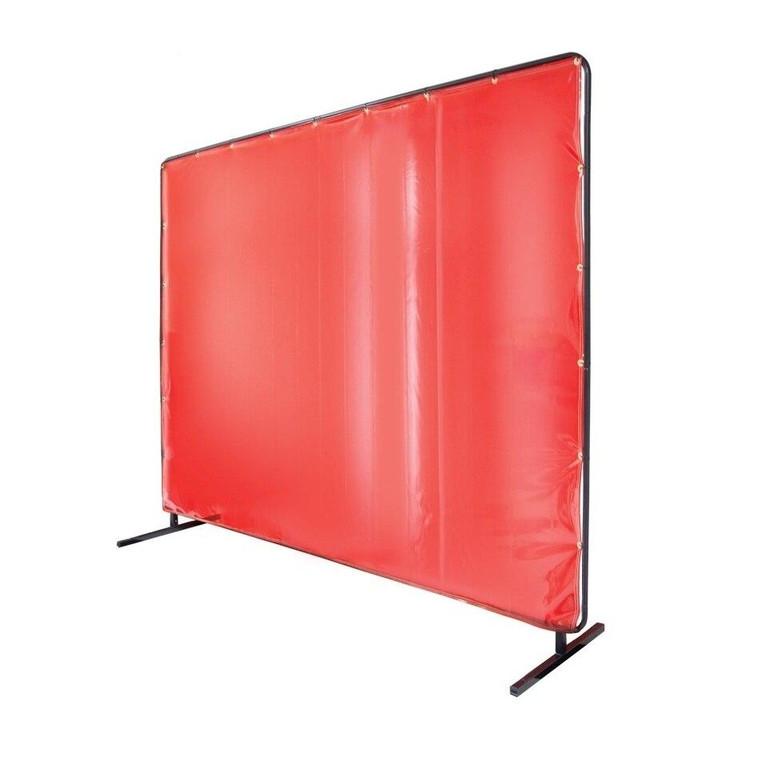 Revco Black Stallion Saf-Vu 14 mil Translucent Vinyl Orange 6 x 6 Welding Screen and Frame