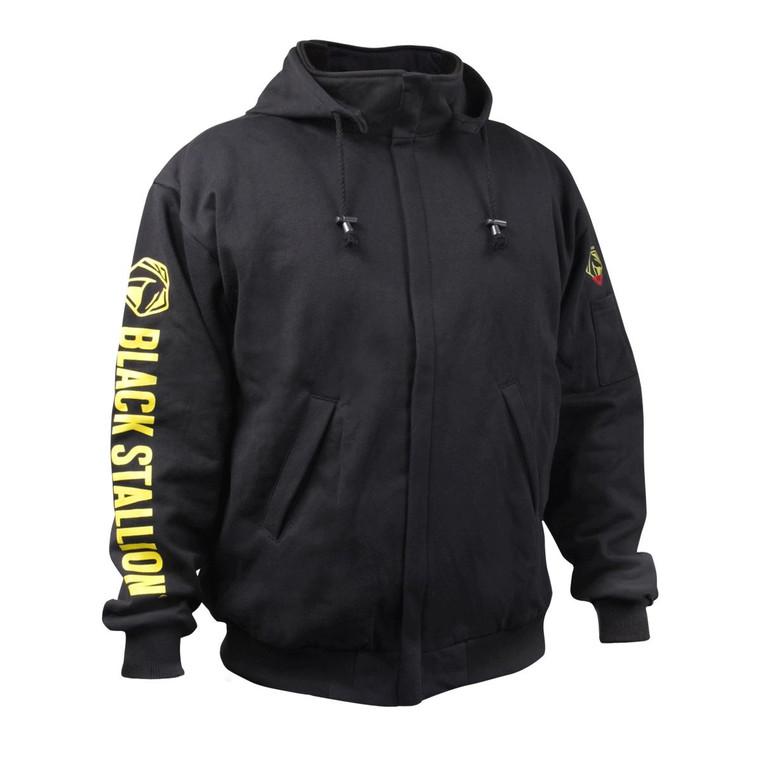 Revco Black Stallion TruGuard 200 FR Cotton Black Hooded Sweatshirt