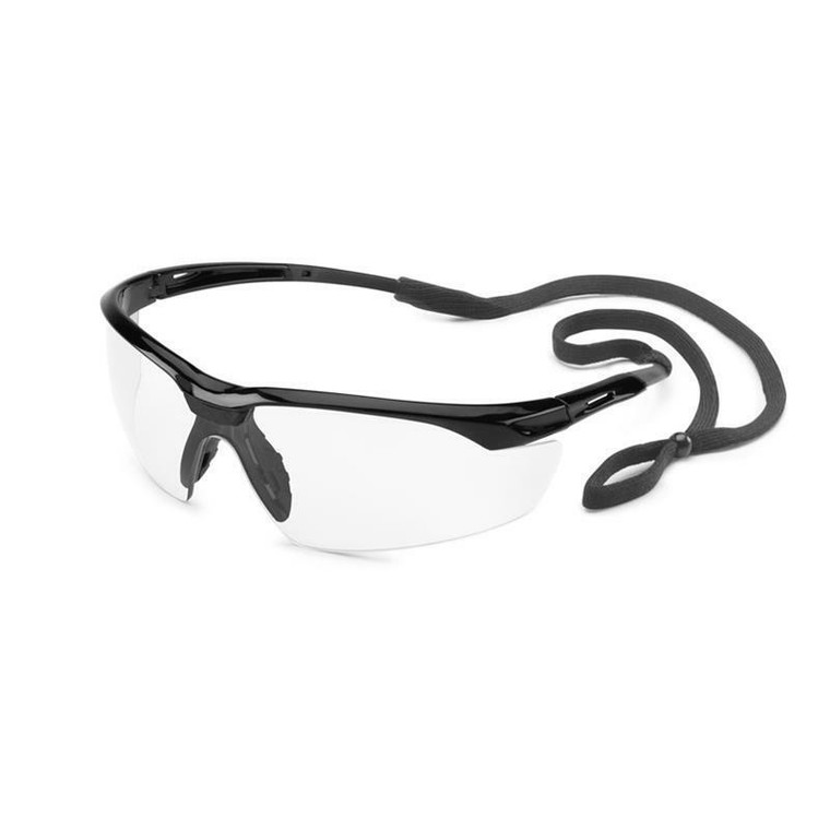 Gateway Conqueror Safety Glasses Black Frame with Clear Lens 28GB80