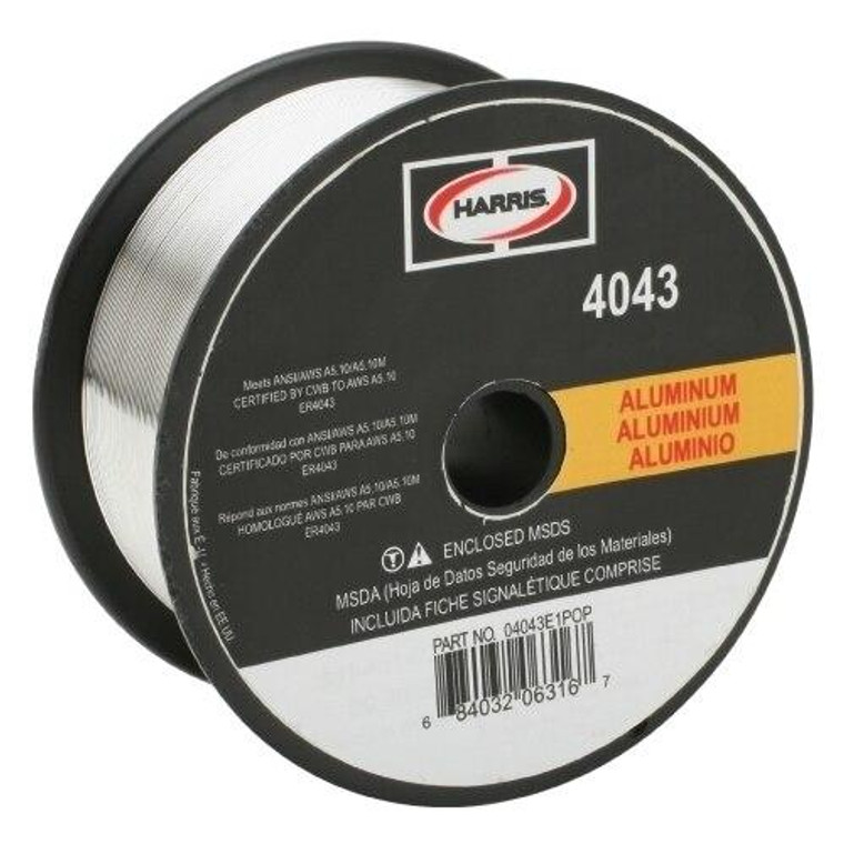 Harris 4043 Aluminum Solid MIG Welding Wire 3/64 - 16 lb