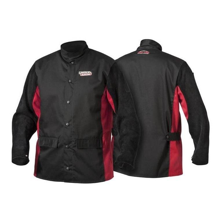 Lincoln K2986 Shadow Split Leather Sleeved Welding Jacket