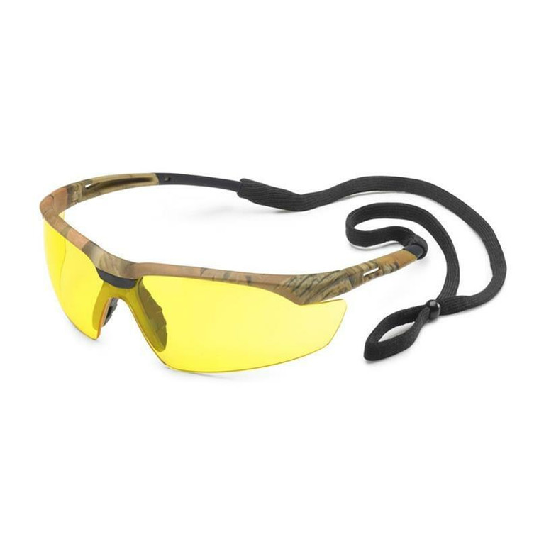 Gateway Conqueror Safety Glasses Camo Frame with Amber Anti-Fog Lens 28CM88