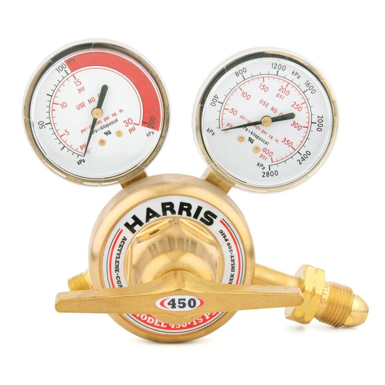 Harris Model 450-15-510 Acetylene Single Stage Stainless Steel Diaphragm Regulator -3002494