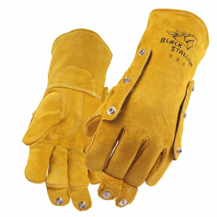 Revco Black Stallion Model 580 Split Cowhide Stick Welding Gloves with FluxGuard Snaps