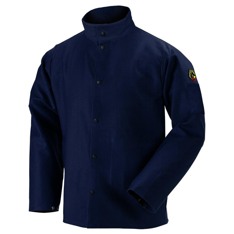 Revco FN9-30C TruGuard 200 FR Cotton Welding Jacket Navy