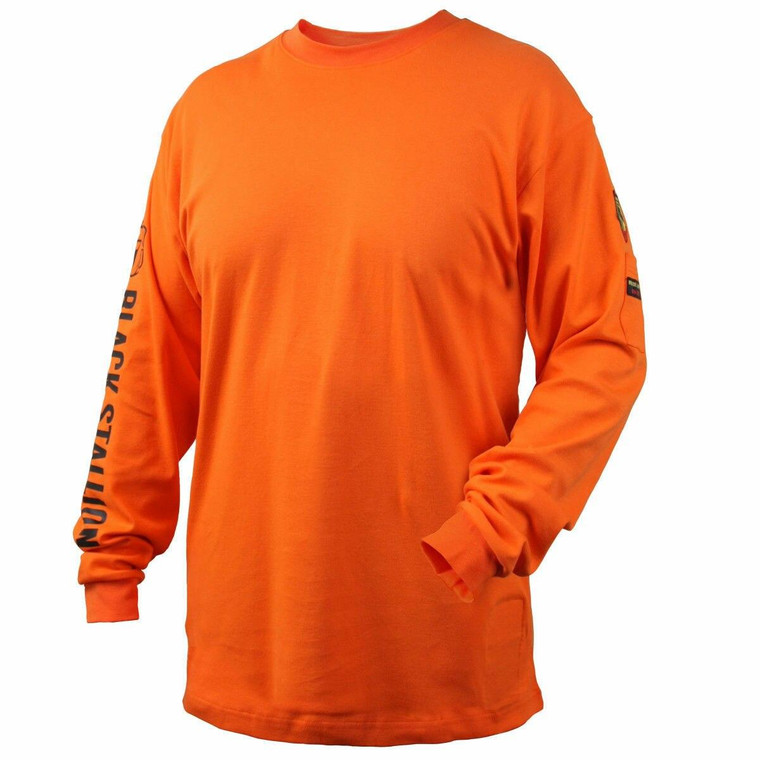 Revco Black Stallion Orange 7 oz FR Cotton Knit Long-Sleeve T-Shirt