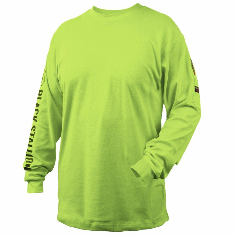 Revco Black Stallion Lime 7 oz FR Cotton Knit Long-Sleeve T-Shirt