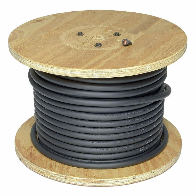 250 Foot Spool of Black 2/0 Flex-A-Prene Welding and Battery Cable Made In USA