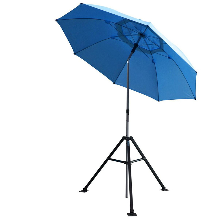 Revco Black Stallion Core Flame-Resistant Industrial Umbrella and Stand, Blue