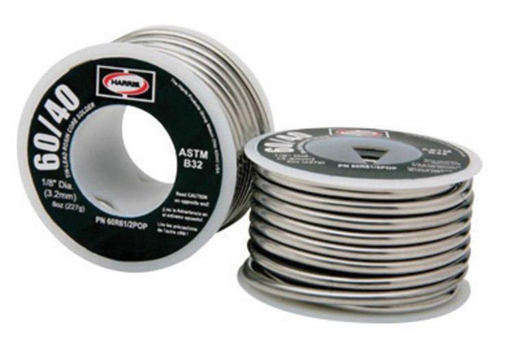 Harris 60/40 1/8 8 oz Rosin Core Common Lead-bearing Solder 60R61/2POP