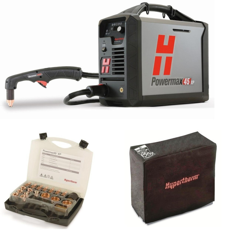 Hypertherm Powermax Plasma Cutter 50 Hand System 088114 with Kit and Cover