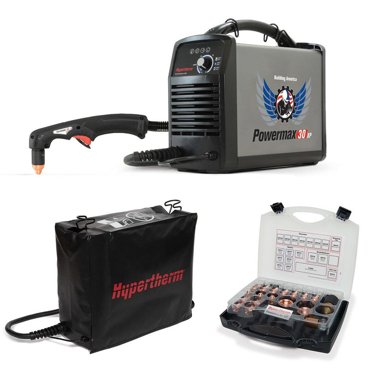Hypertherm Powermax 30 XP Plasma Cutter 088079 with Case, Kit and Cover