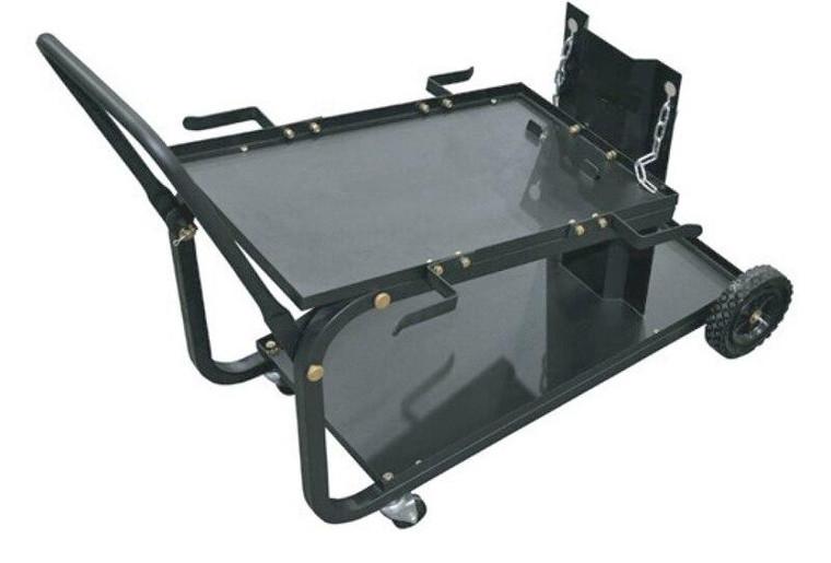 Powerweld 2 Shelf MIG Welder Cart with Folding Handle and Cylinder Rack - CCMIG-2