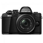 OLYMPUS OM-D E-M10 MARK II BLACK WITH 14-42 IIR BLACK LENS(V207051BU000)