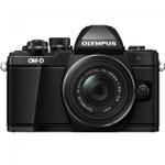 OLYMPUS OM-D E-M10 MARK II BLACK WITH 14-42 IIR BLACK LENS(V207051BU000)