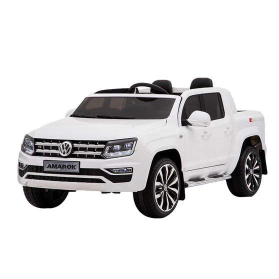 KOOL KARZ DMD-298WH, VOLKSWAGEN AMAROK TWO SEATER ELECTRIC RIDE ON TOY CAR WHITE