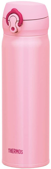 HERMOS, JNL-502CP, 500mL STAINLESS STEEL VACUUM OPEN BOTTLE, ROSE PINK COLOR