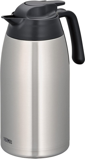 THERMOS, 2.0L STAINLESS STEEL VACUUM INSULATED CARAFE, STAINLESS STEEL COLOR