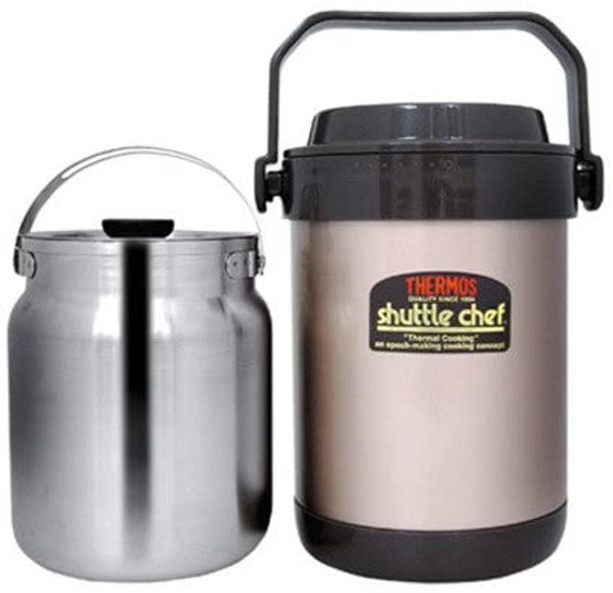 THERMOS, 1.5L SHUTTLE CHEF STAINLESS STEEL VACUUM INSULATED THERMAL COOKER