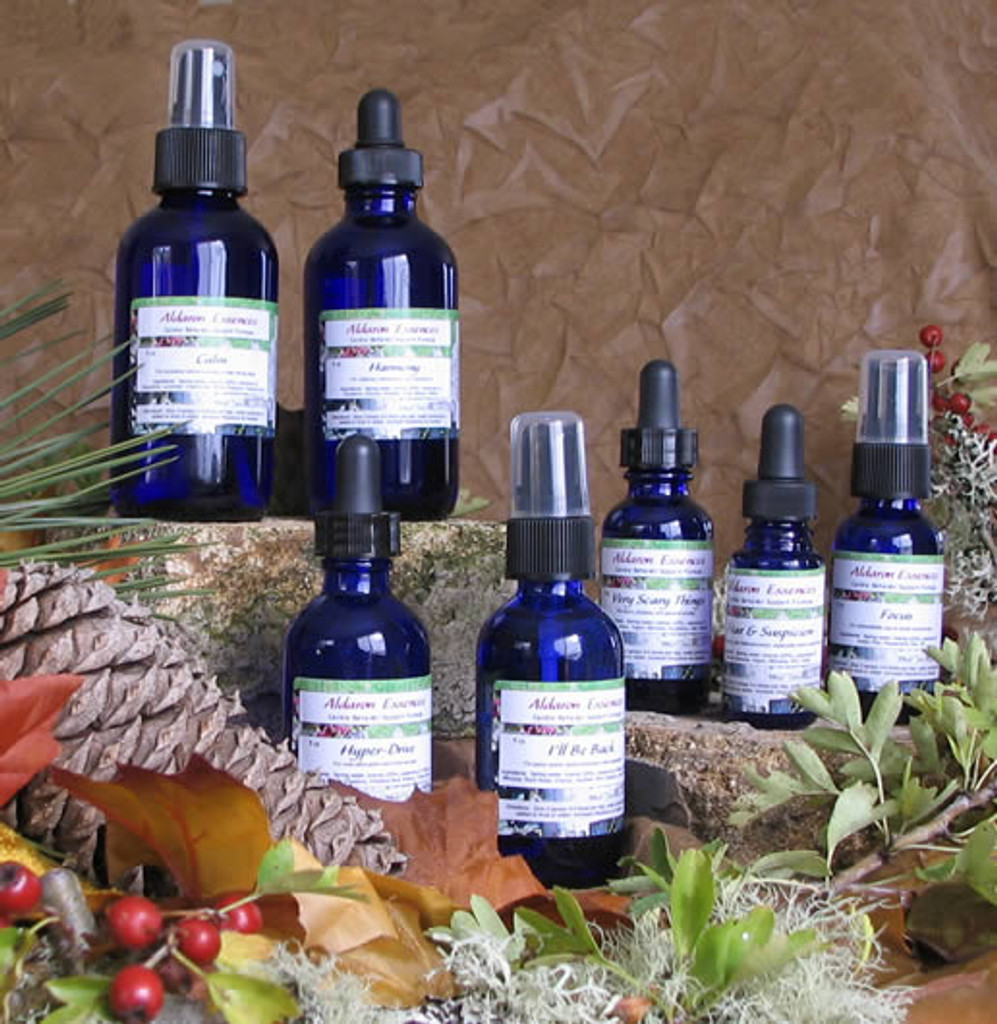 Aldaron Essences - flower essence formulas for dogs. Improve confidence and vitality, reduce anxiety and stress with our safe, gentle, all-natural English and North American flower remedy blends.