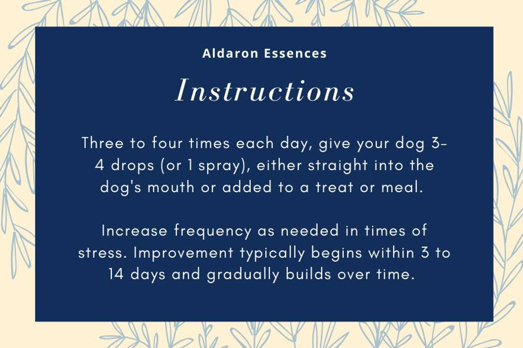 Calm - for excessive nervous energy in high-strung dogs