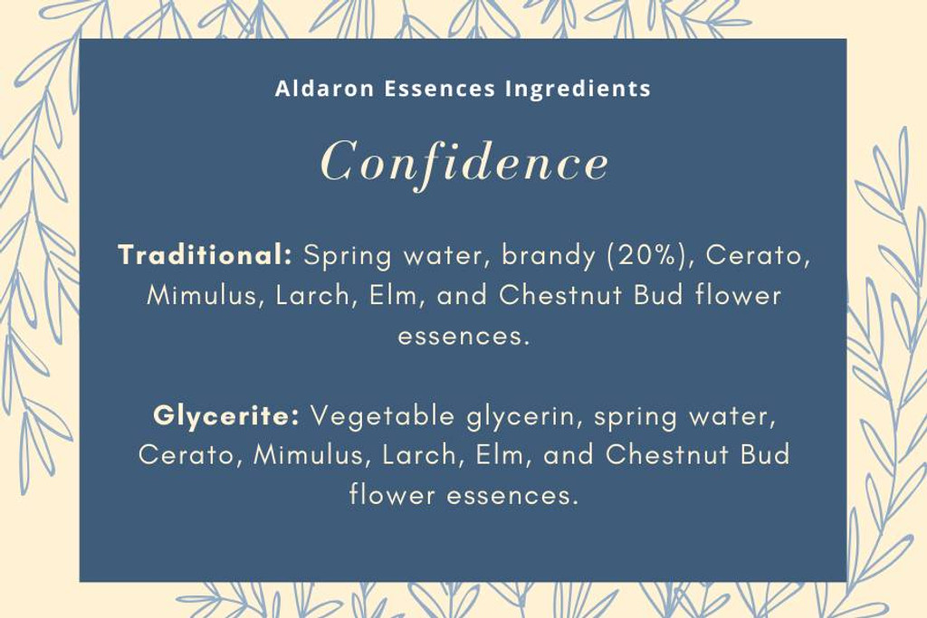 Confidence - for improved confidence and can-do attitude
