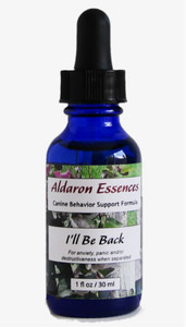 Flower essences for dogs: separation anxiety formula I'll Be Back
