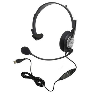 Andrea Communications NC-181 VM USB Noise-Cancelling Microphone Headset, USB-Connected with One Ear Cushion and Digital Volume/Mute