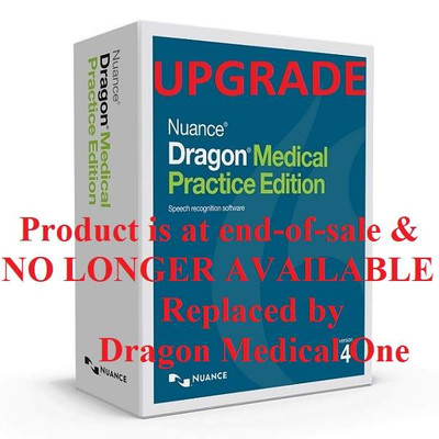 Dragon Medical Practice Edition 4 Upgrade - DOWNLOAD - Product at end-of-sale. NO LONGER AVAILABLE. Consider replacement product, Dragon Medical One.