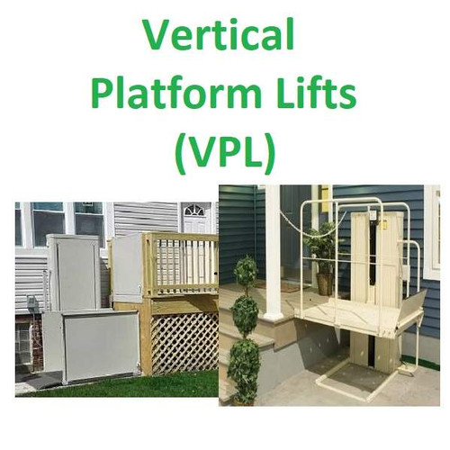 Platform Lifts - also known as VPL, vertical platform lift, wheelchair lift, etc.