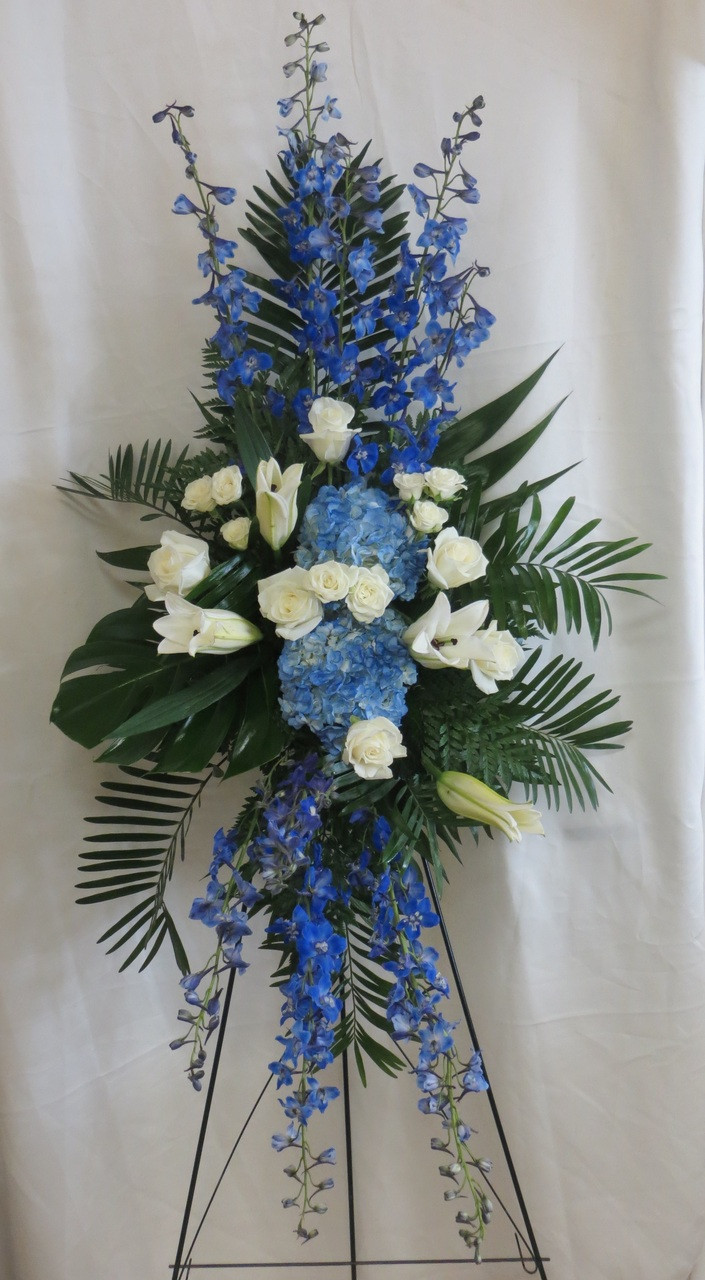 Ocean Blue Funeral Flowers Sympathy Delivery