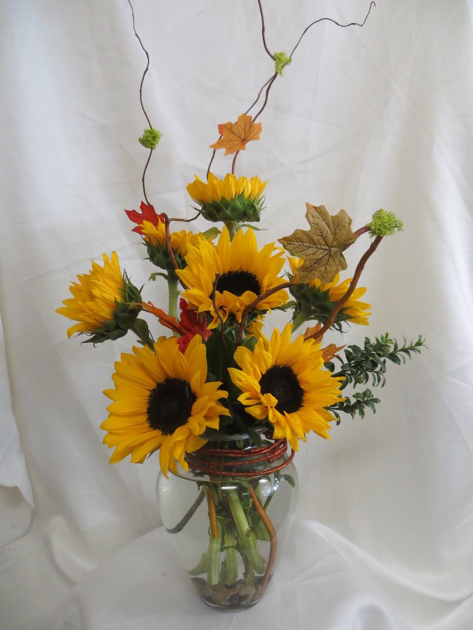 Send Sunflower Bouquet Sassy Fall Sunflowers