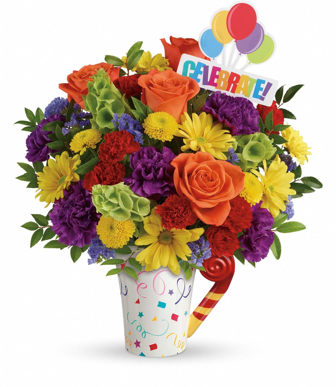 Happy Birthday Flower Bouquet La Porte Tx Florist Delivery