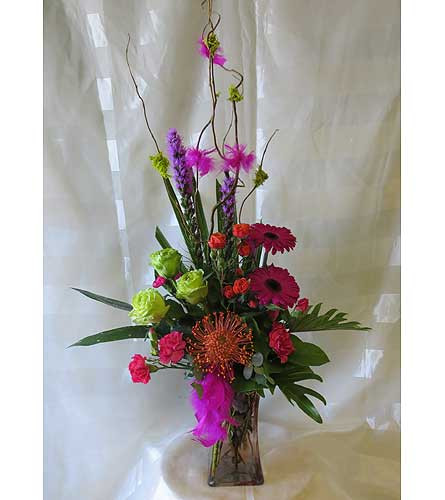 Malibu Breeze Protea and Green Rose Bouquet by Enchanted Florist by Enchanted Florist Pasadena TX - Birthday flowers delivered daily in Houston Texas and local area RM140