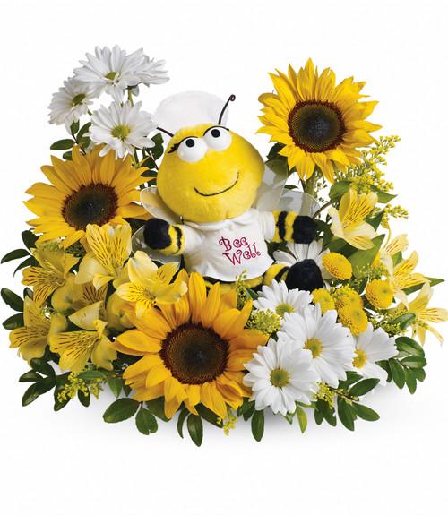 Get Well Soon Flowers Bumble Bee Nurse Bouquet